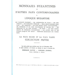 RATTO R.   Monnaies byzantines