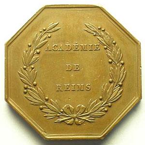 Reims   jeton octogonal en cuivre    TTB+