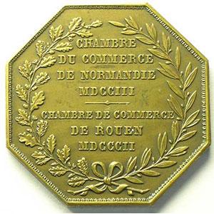 Rouen   Jeton octogonal en bronze    SUP