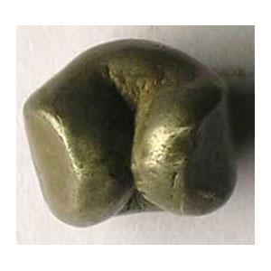 Salu'ng (1/4 Baht)   monnaie boule en argent   contremarques Chakra et Prasat    TB+/TTB