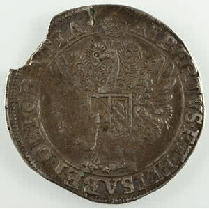 Schilling au Paon (Pauwenschelling)   Albert et Isabelle  (1598-1621)   non daté  Bruxelles    TB+/TTB