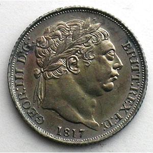 Sixpence   1817    SUP