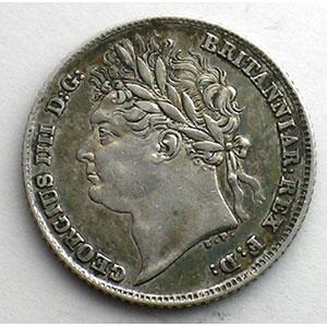 Sixpence   1824    TB+/TTB