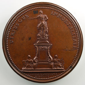 Stanislas   Nancy 1755   Médaille en bronze   50 mm    SUP