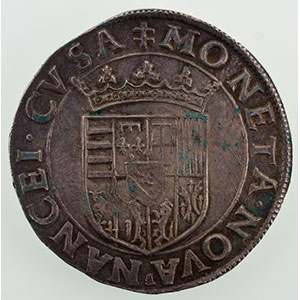 Teston au buste viril  F (Ferry 1575-1581)    SUP
