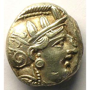 Tétradrachme   (5° siècle av.JC)    TTB