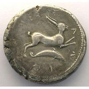Tétradrachme   (5° siècle av. JC)    TTB