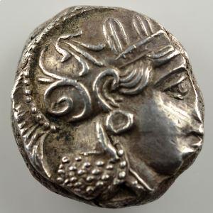 Tétradrachme   Athènes (4° siècle av.JC)    TTB+/SUP