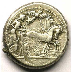 Tétradrachme   (règne de Gélon 485-465 av.JC)    TB+/TTB