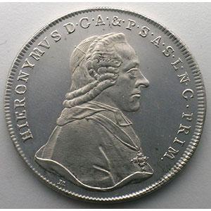Thaler   Hieronymus von Colloredo (1772-1802)   1790    SUP