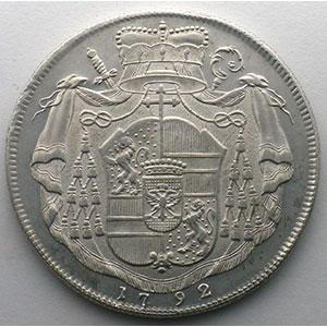 Thaler   Hieronymus von Colloredo (1772-1802)   1792    TTB+