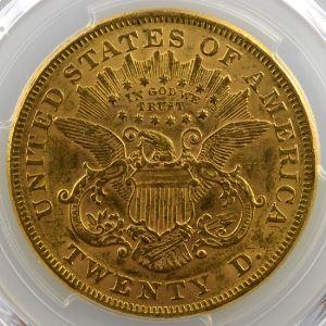 Twenty Dollars   1873 (Philadelphie)  3 ouvert (open 3)    PCGS-AU58    SUP