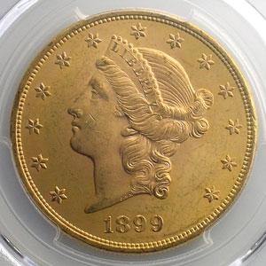 Twenty Dollars   1899 (Philadelphie)    PCGS-MS64    pr.FDC