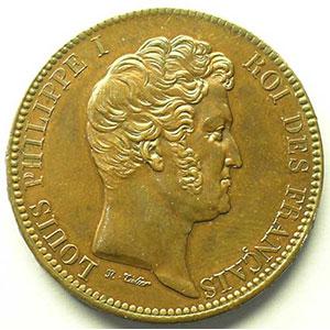 VG 2836   module de 5 francs   bronze   Thonnelier auteur de la presse monétaire   1833    SUP