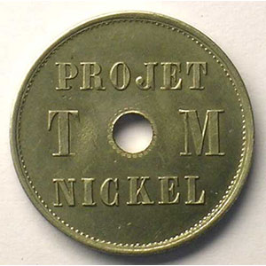 VG 4110    module 23 mm    Projet T M  Nickel 4  1889    SUP/FDC