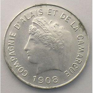 VG 4613 - Mazard 2328   5 (cent) Essai Monétaire   1908   alu, R   25mm    SUP