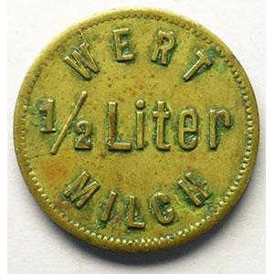 WERT 1/2 Liter MILCH   Lt,R,   21 mm   TTB