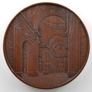 WIENER J.   Eglise Cathédrale de St Aubain à Namur   1846   bronze   51mm    SUP/FDC